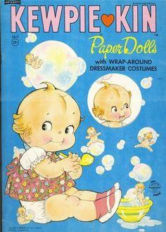 Rose O' Neill for Saalfield books - Kewpie Kin Paper Dolls