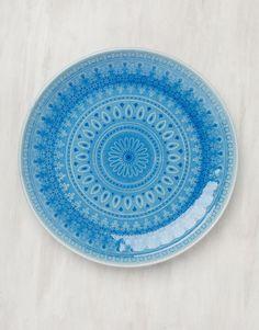 CHENNAI serveringsfat blå