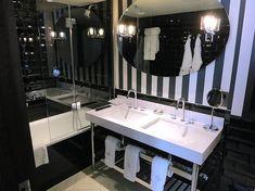 The Ampersand Hotel 10 Harrington Rd, Kensington, London UK Ampersand Hotel, Kensington London, London Hotels, Double Vanity, Bathroom Lighting, Mirror, Home Decor, Bathroom Light Fittings, Bathroom Vanity Lighting