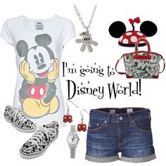 """I'm going to Disney World!"" Got this outfit covered. Disney World Outfits, Disney Vacation Outfits, Cute Disney Outfits, Disney World Vacation, Disney Vacations, Disney Trips, Disney Clothes, Cute Outfits, Disneyland Vacation"