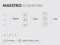Interesting Action Buttons. Via: http://drbl.in/ebiq #ui #icons #design #graphic