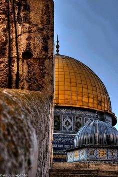 The Dome of the Rock - Jerusalem, Occupied Palestine Islamic World, Islamic Art, Islamic Architecture, Art And Architecture, Palestine Art, Palestine Quotes, Naher Osten, Dome Of The Rock, Beautiful Mosques
