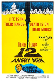 12 Angry Men - Home Theater Decor - Classic Movies Poster Print  -13x19 - Vintage Old Movies Poster - Henry Fonda