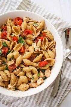Caprese Pasta Salad | Dainty Chef