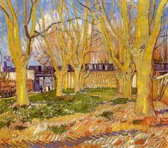 Vincent van Gogh Avenue of Plane Trees near Arles Station oil painting for sale; Select your favorite Vincent van Gogh Avenue of Plane Trees near Arles Station painting on canvas or frame at discount price. Artist Van Gogh, Van Gogh Art, Art Van, Claude Monet, Vincent Van Gogh, Desenhos Van Gogh, Van Gogh Pinturas, Musée Rodin, Van Gogh Paintings