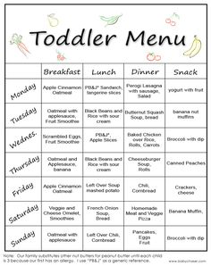 baby menu planners | Published October 9, 2013 at 791 × 1000 in Another Toddler Menu