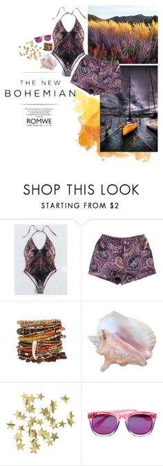 """""""The New Bohemian"""" by dreamy-darling ❤ liked on Polyvore featuring MINKPINK, H&M, Wildfox and American Eagle Outfitters"""