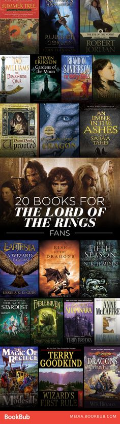 Must-Read Books If You Love 'The Lord of the Rings' A giant list of epic fantasy books to read if you love Lord of the Rings. This is a must-save list!A giant list of epic fantasy books to read if you love Lord of the Rings. This is a must-save list! Ya Books, I Love Books, Fantasy Books To Read, Fantasy Fiction, What To Read, Book Nooks, Book Lists, Reading Lists, Reading Books