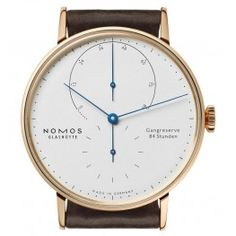 Nomos Glashutte Lambda 39 Blue Hands Watch 953