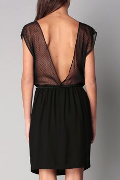 Robe noire ceinturée plumetis Bridgette Sessun sur MonShowroom.com