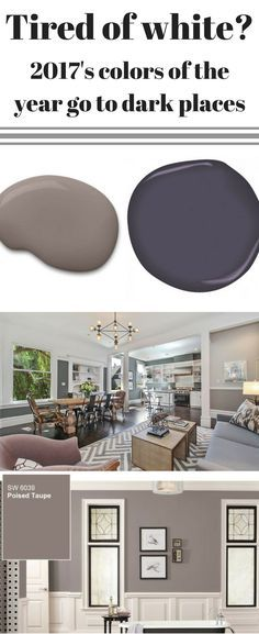 While 2016's color trends were all about going back to basic whites, 2017 is going to darker places. Sherwin Williams and Benjamin Moore have revealed their Colors of the Year and both are inviting darker colors into your home decor.