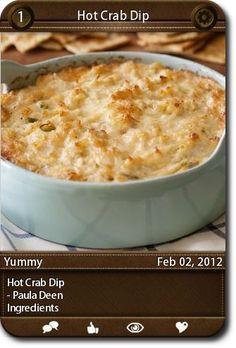 Hot Crab Dip  - Paula Deen  Ingredients  ...