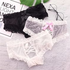 AB/_ CO/_ AU/_ Women Fashion Cotton Lace Briefs Panties Intimates Underwear Underpa