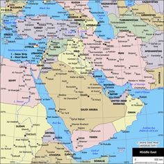 Middle East Map Middle East Countries Capitals And Borders