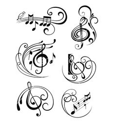 New music note illustration musique 60 ideas Music Tattoo Designs, Music Tattoos, Body Art Tattoos, Sheet Music Tattoo, Music Symbol Tattoo, Small Tattoos, Tatoos, Tattoo Noten, Music Notes Art