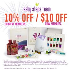$10% off the Premium Starter Kit for current members / $10 off for new members. LIGHT YOUR FIRE Promotion by my lovely Young Living Essential Oils! I'm always just a message or phone away, to share more information!  Www.gracefulessentialoils.webs.com