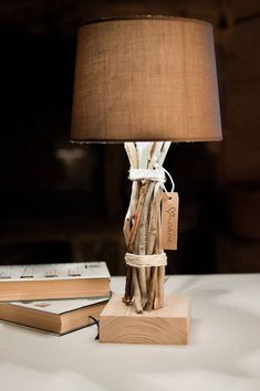 wooden lamp: