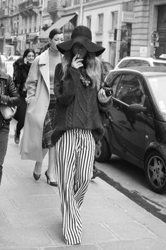 I absolutely love striped trousers! They remind me of my little golly dolls. These are so stylish and something different to the skinny versions I've seen. I also love the hat.