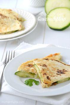 Zucchini Quesadillas - Mother Thyme