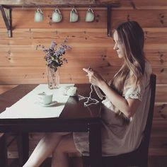 It's time for a little knitting break..:) . . #knitstagram #instaknit #knittersofinstagram #knitting #instaneulojat #neulominen… Getting Cozy, Dining Table, Home Decor, Decoration Home, Room Decor, Dinner Table, Dining Room Table, Home Interior Design, Diner Table