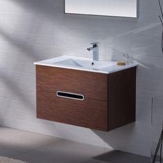 """Adornus Yakira 32"""" Single Bathroom Vanity Set with Mirror"""