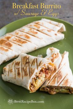 Killer Grilled Breakfast Burritos with Sausage Egg or Bacon Grill Breakfast, What's For Breakfast, Vegetarian Breakfast, Breakfast Burritos, Breakfast Recipes, Christmas Breakfast, Sausage Breakfast, Sausage Recipes, Egg Recipes