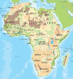 Africa - Wikipedia Blank Outline Map Similiar