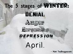 currently in the depression and also anger stage of winter... I hope it never snows again. I'm getting so tired of the cold temperatures:(
