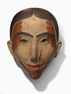 Mask Date created:1840-1870 Artists/Makers:attributed to Simeon Stilthda (Sdiihldaa), Haida, ca. 1799-1889 Place:Masset; Skeena-Queen Charlotte Regional District; British Columbia; Canada (inferred) Media/Materials:Wood, paint, metal pin/pins Techniques:Carved, drilled, nailed, painted Collection History/Provenance:Collection history unknown; purchased by MAI from an unknown source in 1919. Dimensions:23.0 x 18.0 x 9.0 cm Catalog number:9/6937