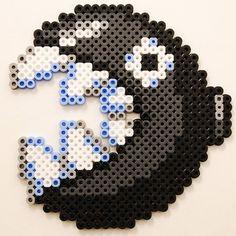 Chain Chomp Mario perler beads by at0msk