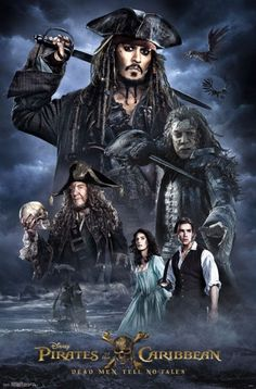 New Pirates of the Caribbean: Dead Men Tell No Tales Posters Released