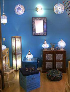 Mozaiek lamp blauw