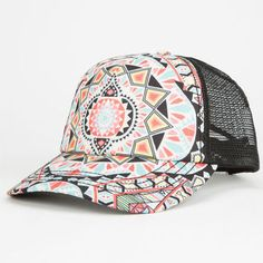 Billabong Tiles N Tides Womens Trucker Hat Multi One Size For Women 25129095701