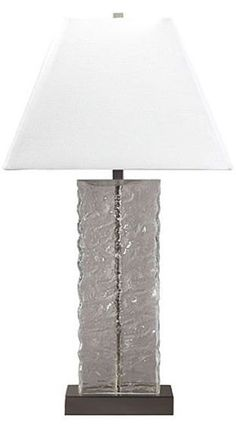 Mottled Glass Table Lamp | cort.com