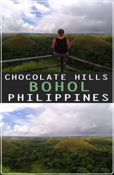 The Chocolate Hills are a very strange geological formation with more than 1000 cone-shaped hills. How to get to the Chocolate Hills Chocolate Hills, Bohol Philippines, Ecommerce Hosting, Mountains, Bucket, Travel, Viajes, Destinations, Traveling