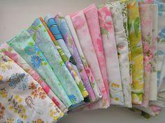 Tea Rose Home: Vintage Sheets & Pillowcases Quilt Top