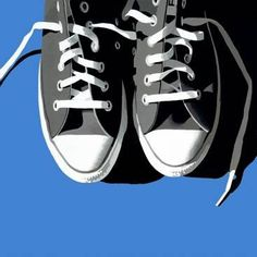 Sneakers (blue background) – Abacus Gallery