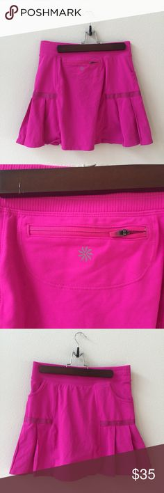 New Athleta Pink Skort This skort is brand new! Never worn! Size medium. Has built in shorts! Smoke and pet free home! Athleta Shorts Skorts