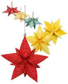 Fabric Origami Star Ornaments