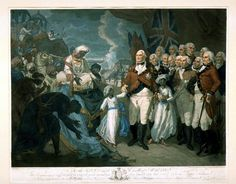 The Marquis Cornwallis receiving the hostage Princes, sons of Tippoo Sultaun, in view of Seringapatam