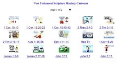 Seminary scripture mastery cartoons for New Testament