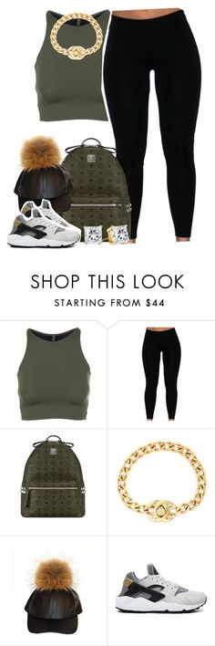 """""""Untitled #1402"""" by lulu-foreva ❤ liked on Polyvore featuring Onzie, MCM, Chanel and NIKE"""