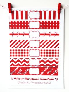 *** Merry Xmas! Free printable suite - #1: Wrapping Bands ***
