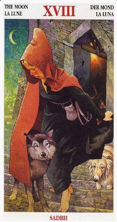 Celtic Tarot -- the Moon   --  If you love Tarot, visit me at www.WhiteRabbitTarot.com