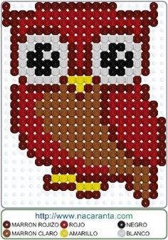 BUHITO en CUENTAS HAMA BEADS, Perler Bead Patterns Cute Crafts, Bead Crafts, Crafts For Kids, Crafts To Make, Owl Perler, Diy Perler Beads, Pixel Pattern, Iron Beads, Melting Beads