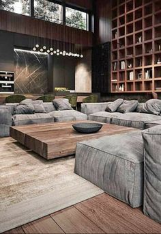 Home Interior Design Basment.Home Interior Design Basment Home Living Room, Interior Design Living Room, Living Room Decor, Interior Modern, Urban Interior Design, Dining Room, Spacious Living Room, Luxury Interior, Modern House Design