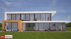 Mc-Home.nl M45 moderne villa met veel ramen en glas in staalframebouw energieneutraal of passief