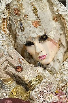 Beautiful mask at carnival in Venice: