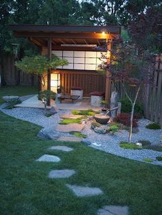 Absolutely beautiful outdoor meditation space Best Picture For modern Zen Garden For Your Taste You are looking for something, and it is going to tell you exactly wh Zen Garden Design, Japanese Garden Design, Japanese Style, Outdoor Rooms, Outdoor Gardens, Outdoor Living, Zen Gardens, Modern Gardens, Outdoor Patios