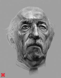 Amazing old men pencil portraits by Sasha Ushkevich Old Man Portrait, L'art Du Portrait, Portrait Sketches, Portrait Au Crayon, Pencil Portrait, Person Drawing, Drawing People, Creative Illustration, Portrait Illustration